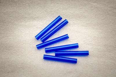 Náhled výrobku: Trubičkový modrý korálek